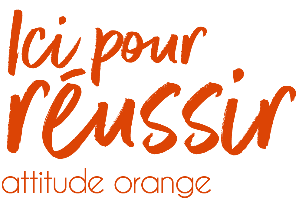 Logo ici pour réussir Attitude Orange